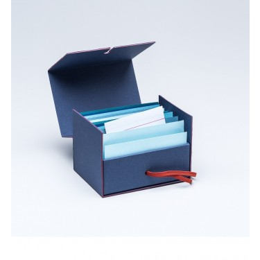 Fil rouge Business card box