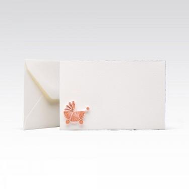 Quilling Card - Pink pram