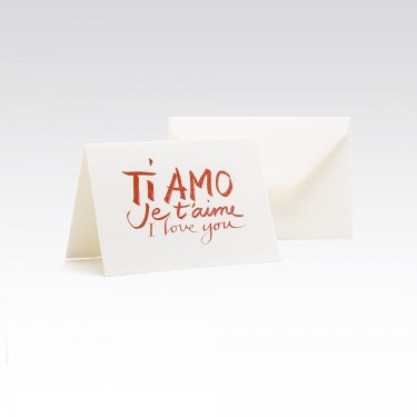Card I Love You Ti Amo in all languages